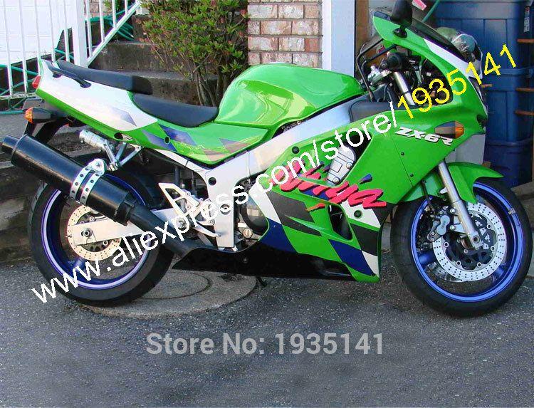 Hot SalesBody Kit For Kawasaki NINJA ZX 6R 94 95 96 97 ZX6R 1994 1995 1996 1997 Aftermarket ABS Sportbike Fairing Affiliate