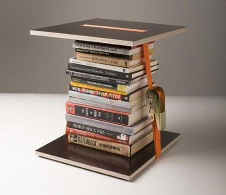 The Strap It Books Stool by Harry Hassan