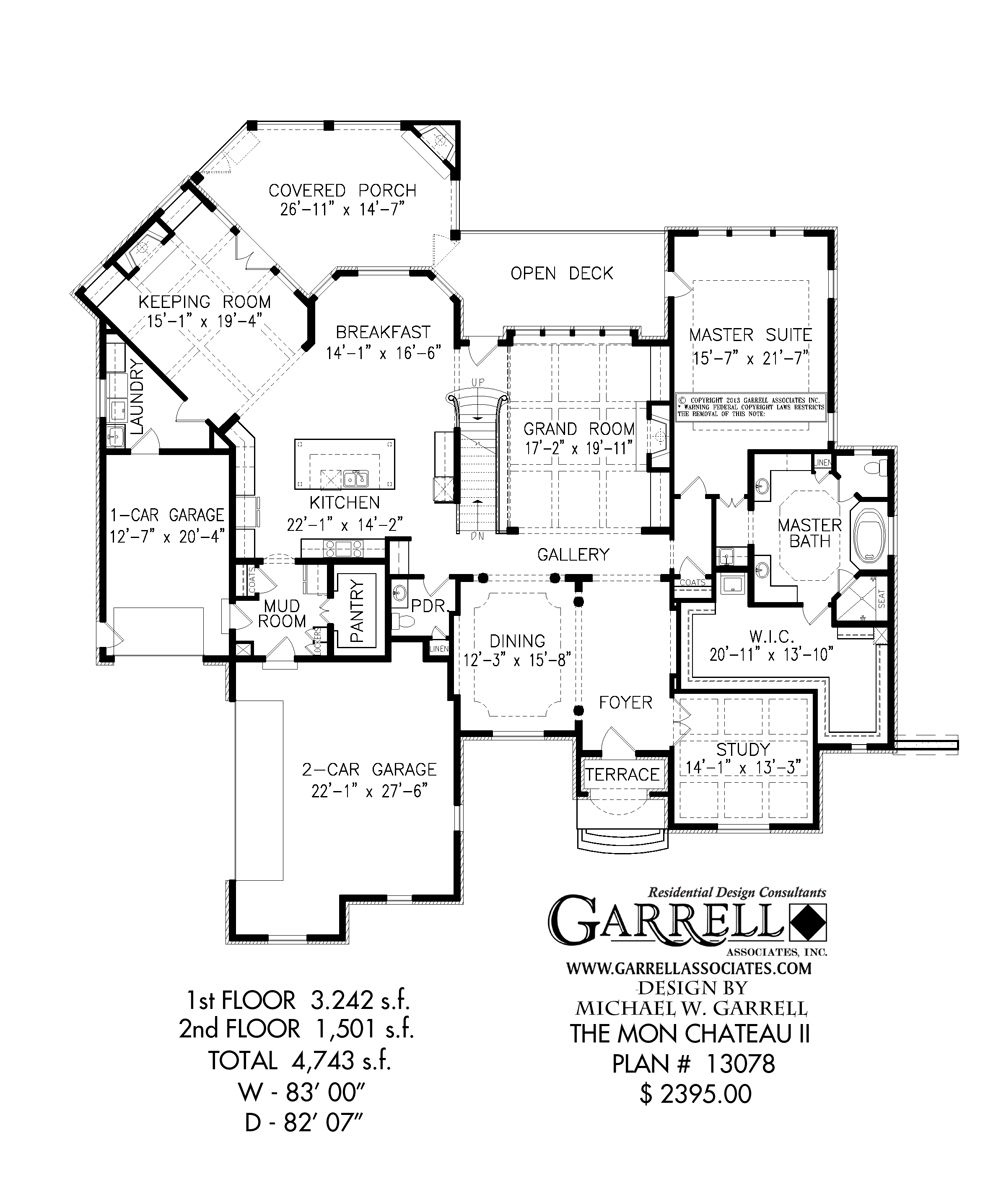 Mon Chateau Ii House Plan 13078 1st Floor Plan French Country House Plan European House Plan House Plans How To Plan Floor Plans