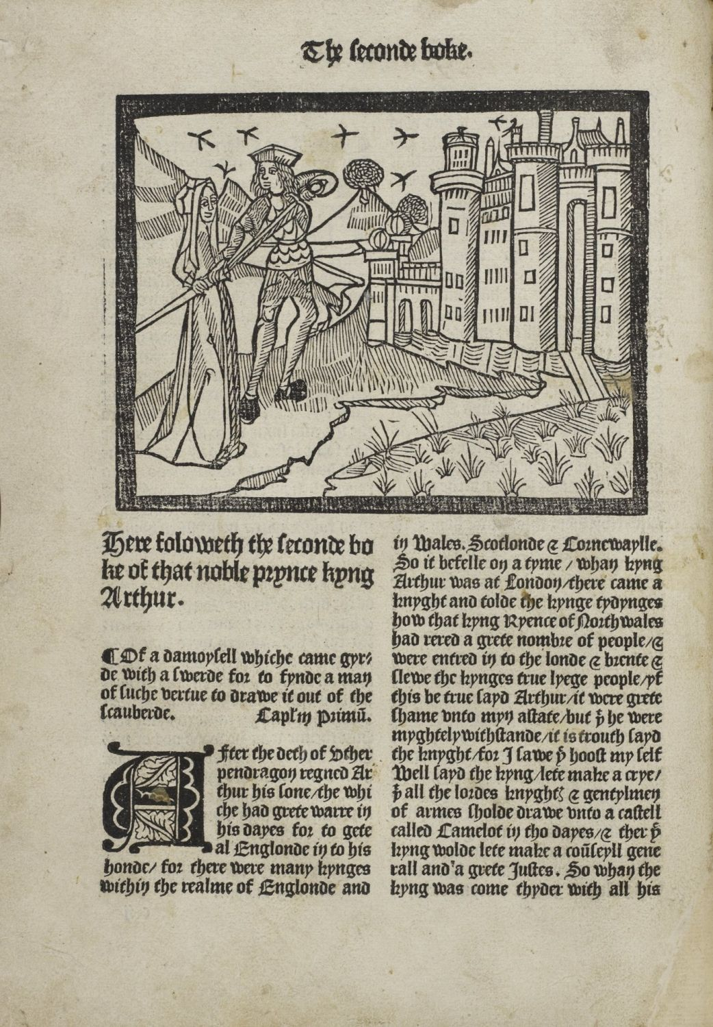 Image From Le Morte D Arthur By Thomas Malory Printed By