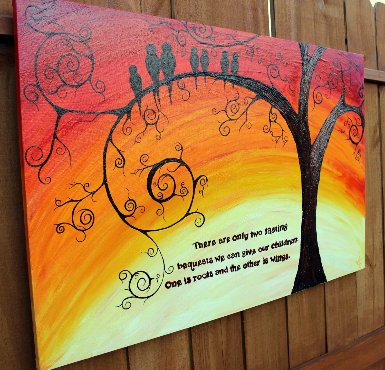 Image Result For Acrylic Painting Ideas Family Tree Painting