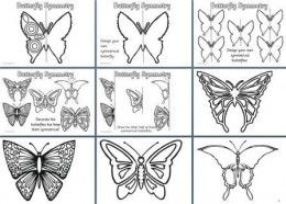 teaching symmetry to kindergarten kids  drawing