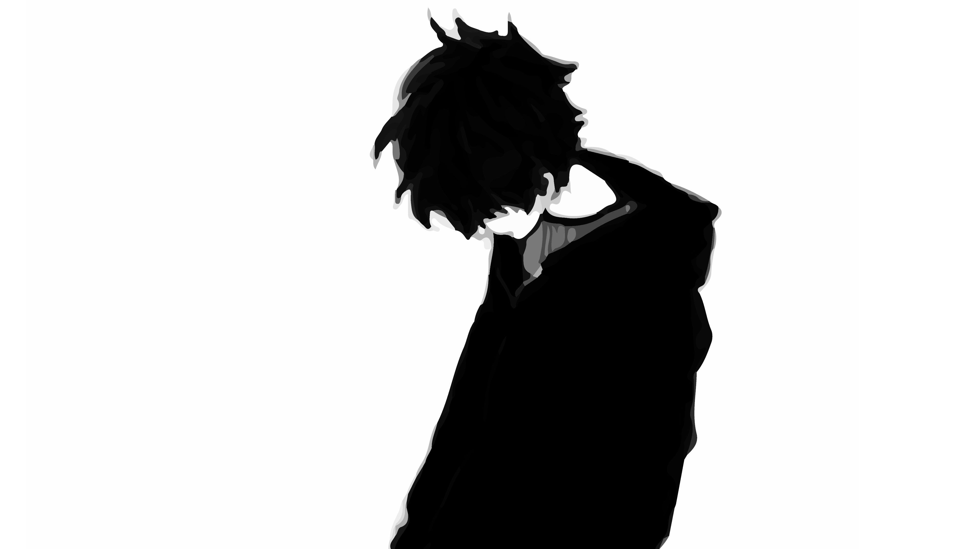 Black And White Sad Anime