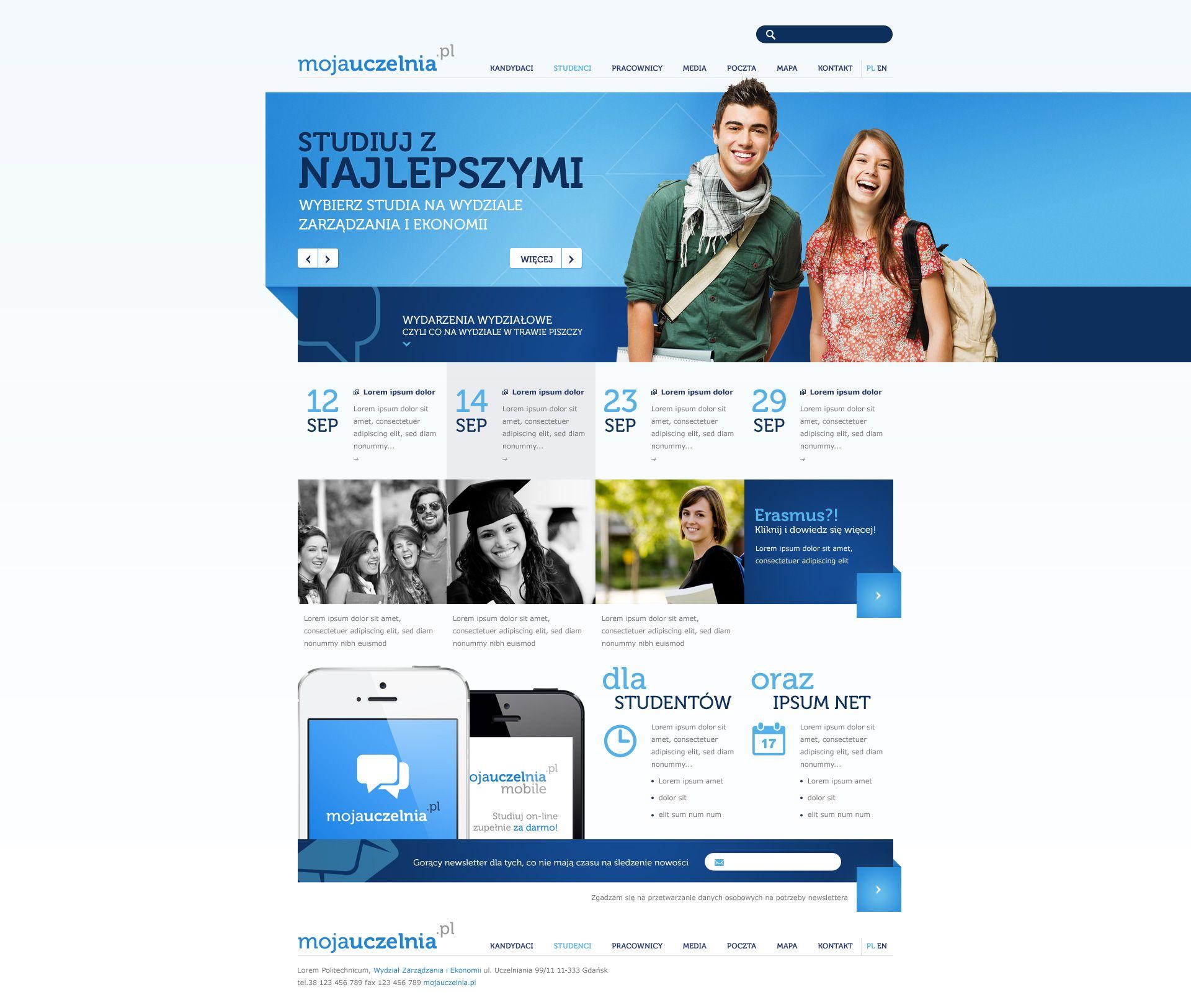 Faculty Website By Sansana On Deviantart Web Design Faculties Mobile Site Design