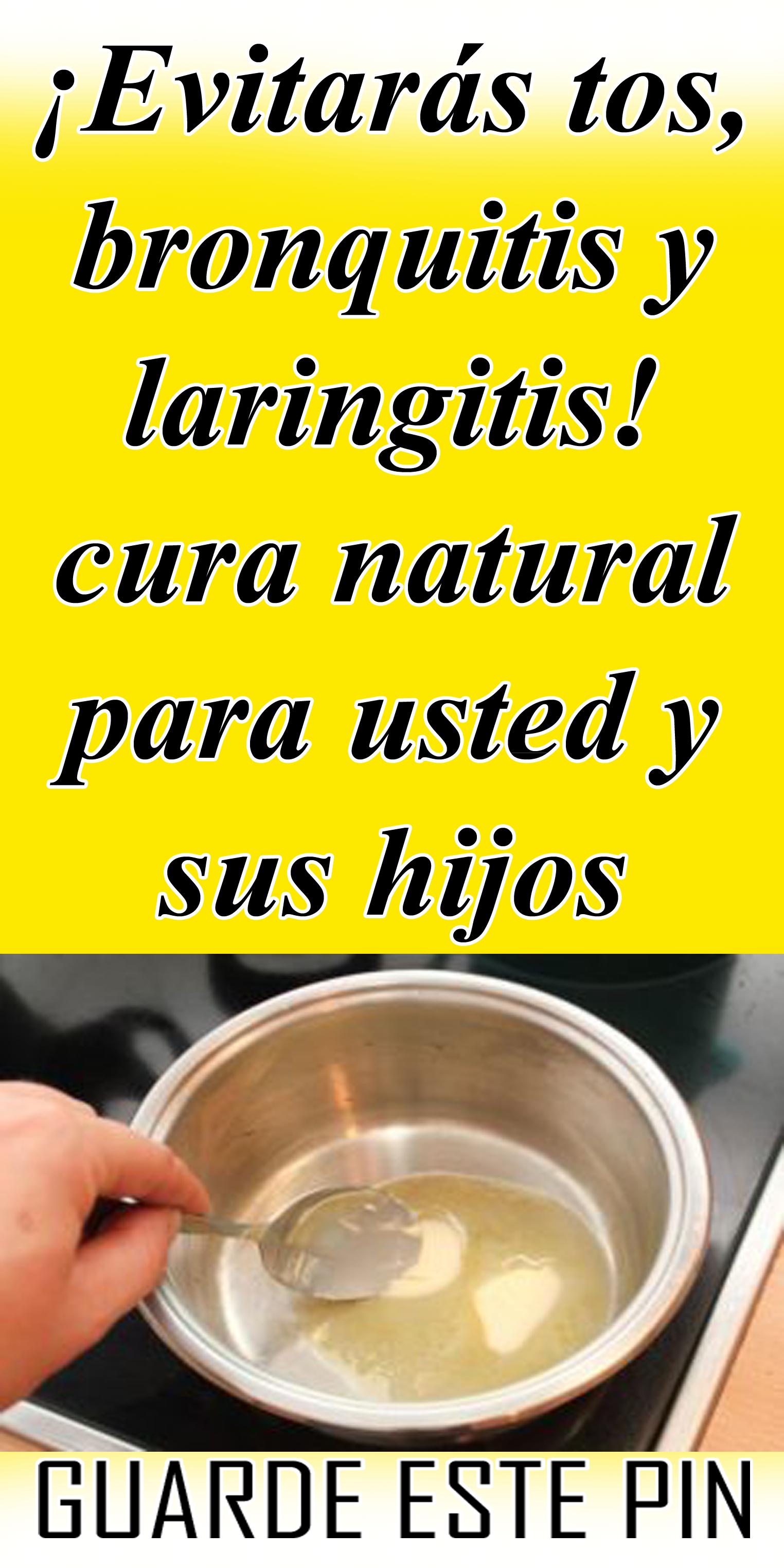 remedios caseros para la tos de laringitis
