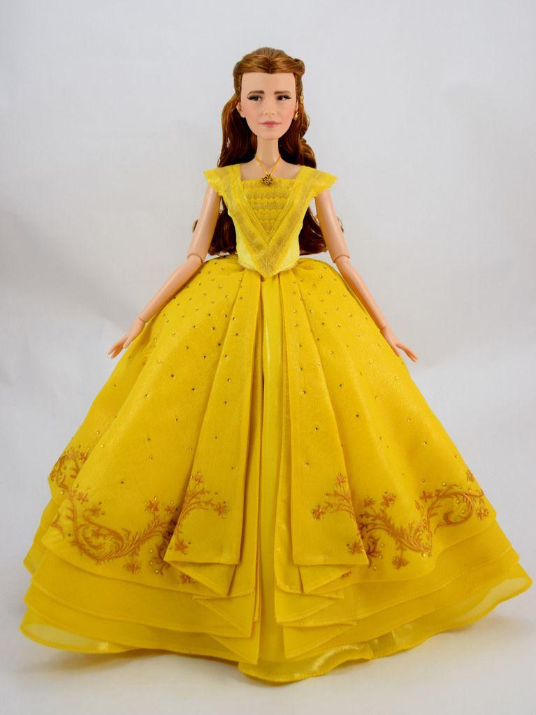 Disney Beauty and Beast Belle Barbie dress live action DOLL DRESS
