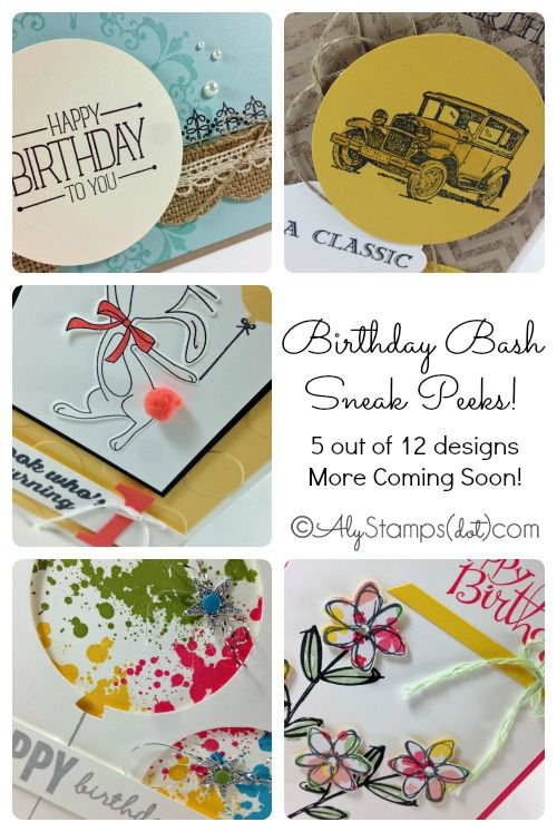 Lots of Birthday Card Ideas for different genders and ages using Stampin' Up! products.