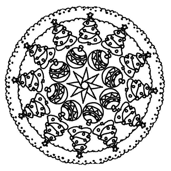 Coloriage mandala noel colorier dessin imprimer id es sympas pinterest coloriage - Coloriage de mandala de noel ...