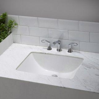 kraus elavo large rectangular ceramic undermount bathroom sink in white with overflow overstockcom