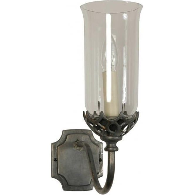 Traditional design gothic wall light with a clear storm glass shade traditional design gothic wall light with a clear storm glass shade based on a casting from aloadofball Gallery