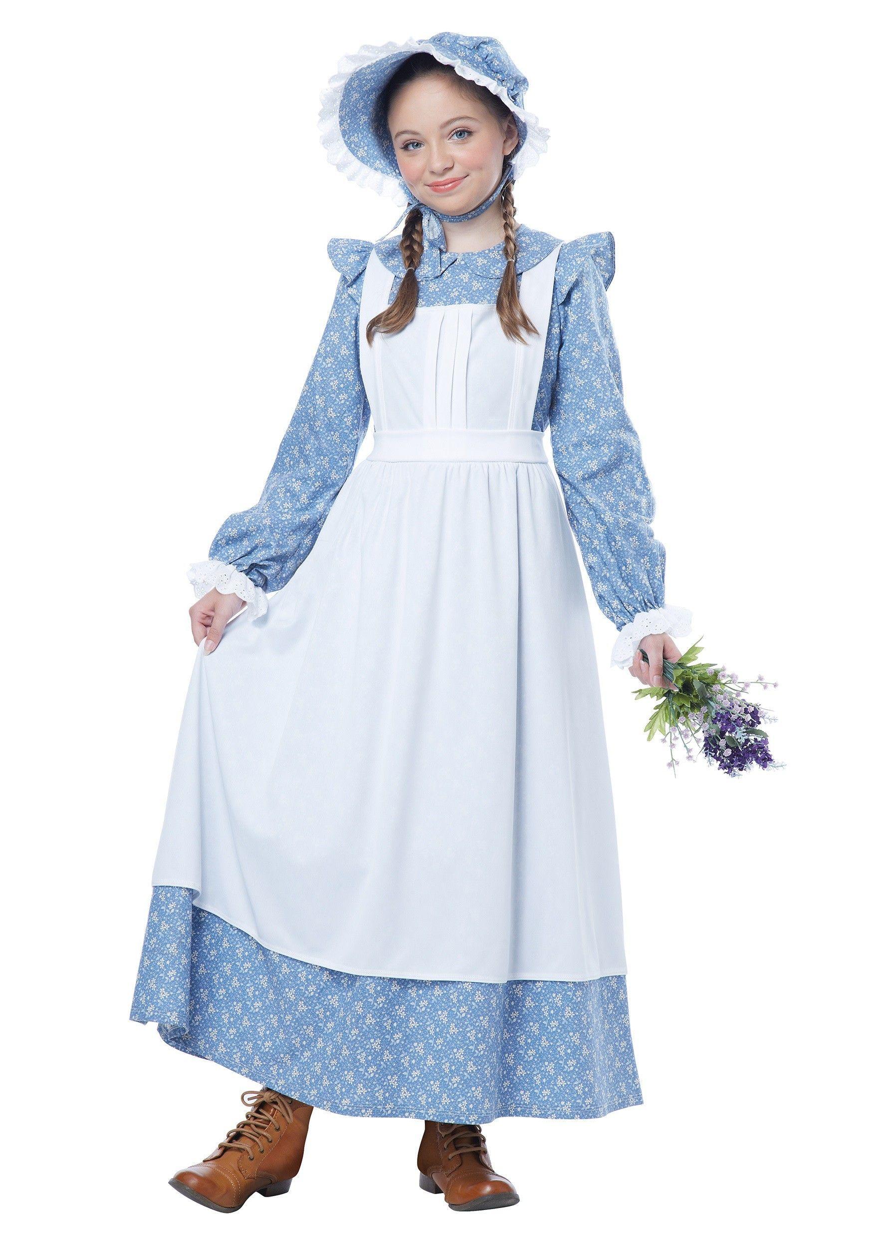 Child pioneer girl costume girls halloween costumes pinterest pioneer girl costumes and - Costume halloween fille ...
