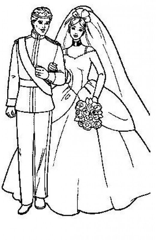 Wedding Bride and Groom Coloring Pages | pergamano ...