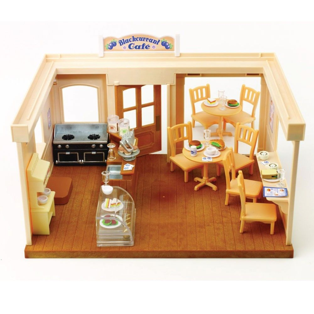 Sylvanian Families Bedroom Furniture Set Calico Critters Sylvanian Families Blackcurrant Cafe Restaurant