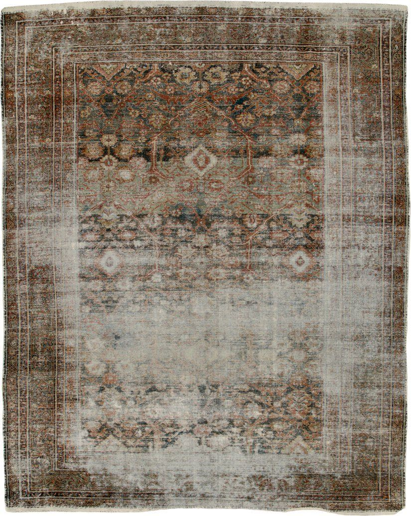 Distressed Antique Malayer Carpet No 24791 Malayer Antiques Distressed Rugs