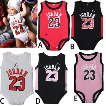 b52cd726f314d1 Newborn Baby Rompers Cute sports Cotton Baby Wear Summer Sleeveless Infant  Jumpsuit Boy Girl Baby Clothes free shipping