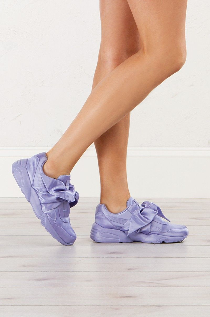 c01249280a12a4 Puma X Fenty Bow Sneakers in Silver Pink