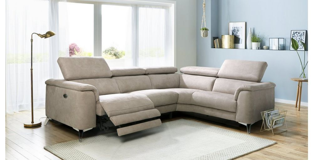 Tahiti Option C Left Hand Facing 2 Seat 2 Piece Power Recliner Power Corner Group Arizona Leather Corner Sofa Reclining Sofa Sofa