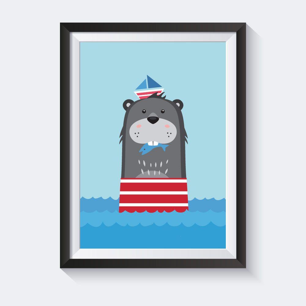 Poster Kinderzimmer, Maritime Deko, Kinderbilder, Kinderzimmer ...