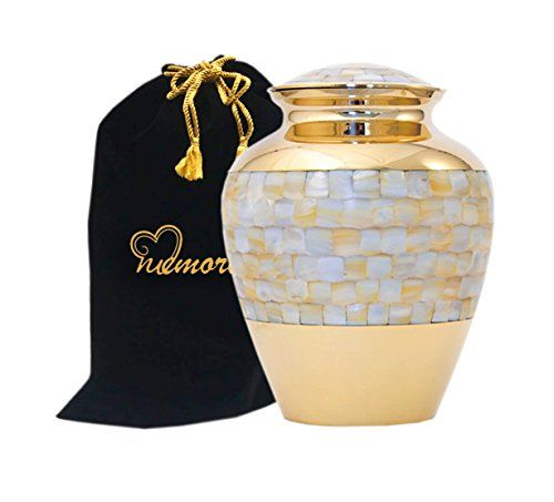Elite Mother Of Pearl Cremation Urn By Memorials4u For Human Ashes