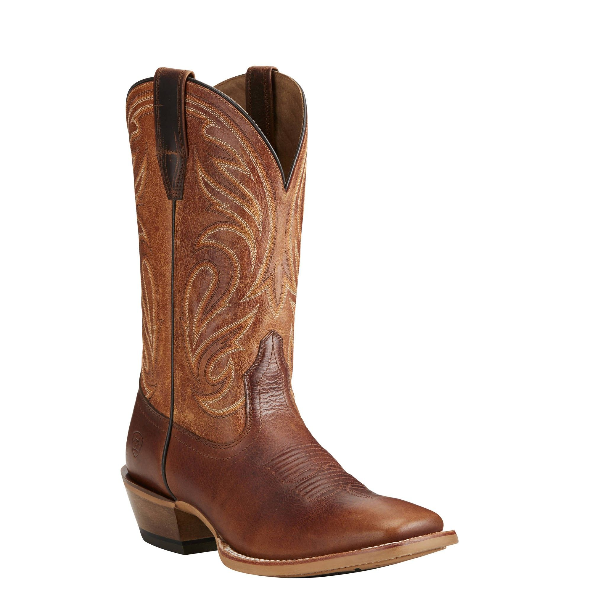 Men's Ariat Crossfire, Size: 9.5 D, Weathered Brown/Shadow Black Full Grain leather