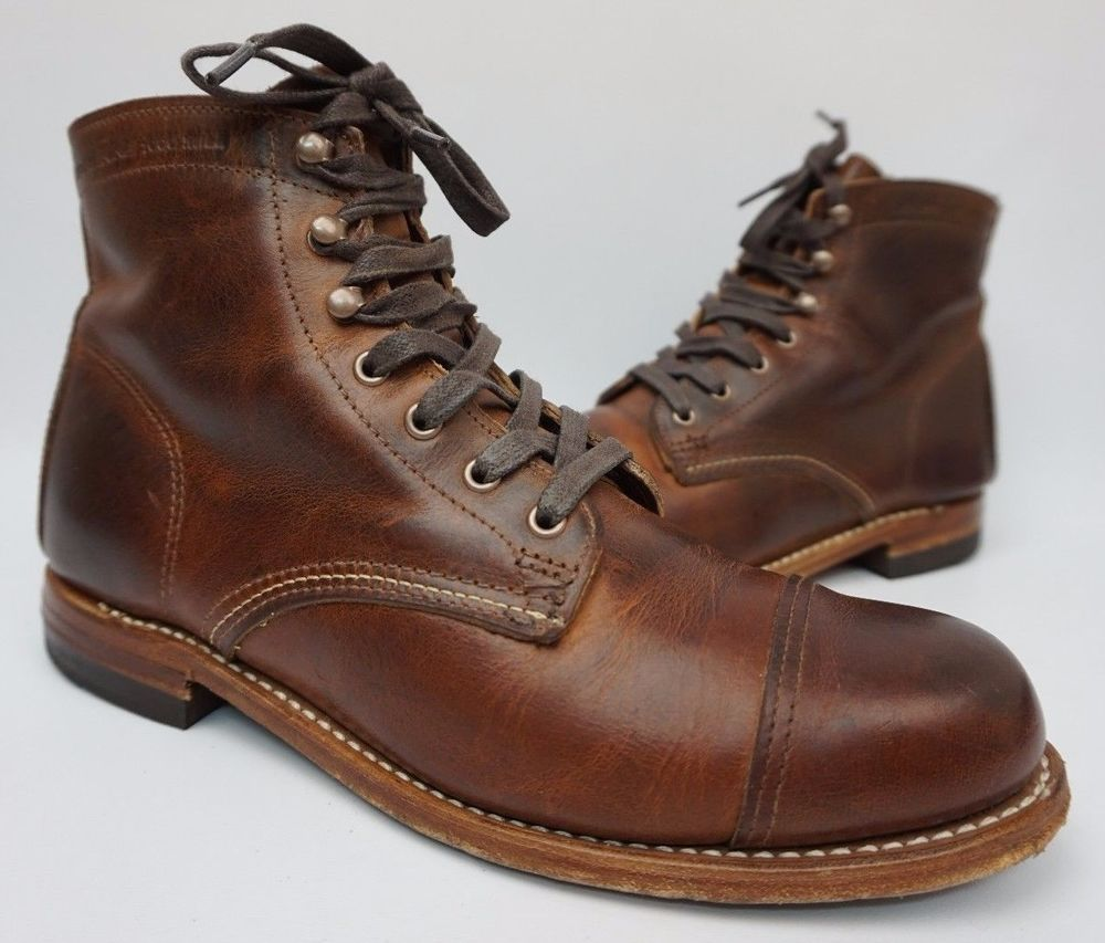 e37db19ba0b Details about Wolverine 1000 Mile Centennial Tan Leather Round Toe ...