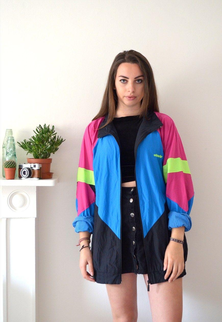 0b1f376987d 90s Vintage Adidas Block Fluro Shell Jacket | Ica Vintage | ASOS ...
