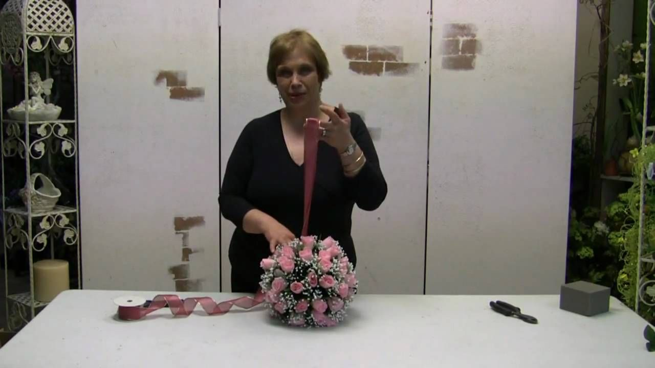 How To Make A Pomander Ball Kissing Ball Using Silk Flowers I
