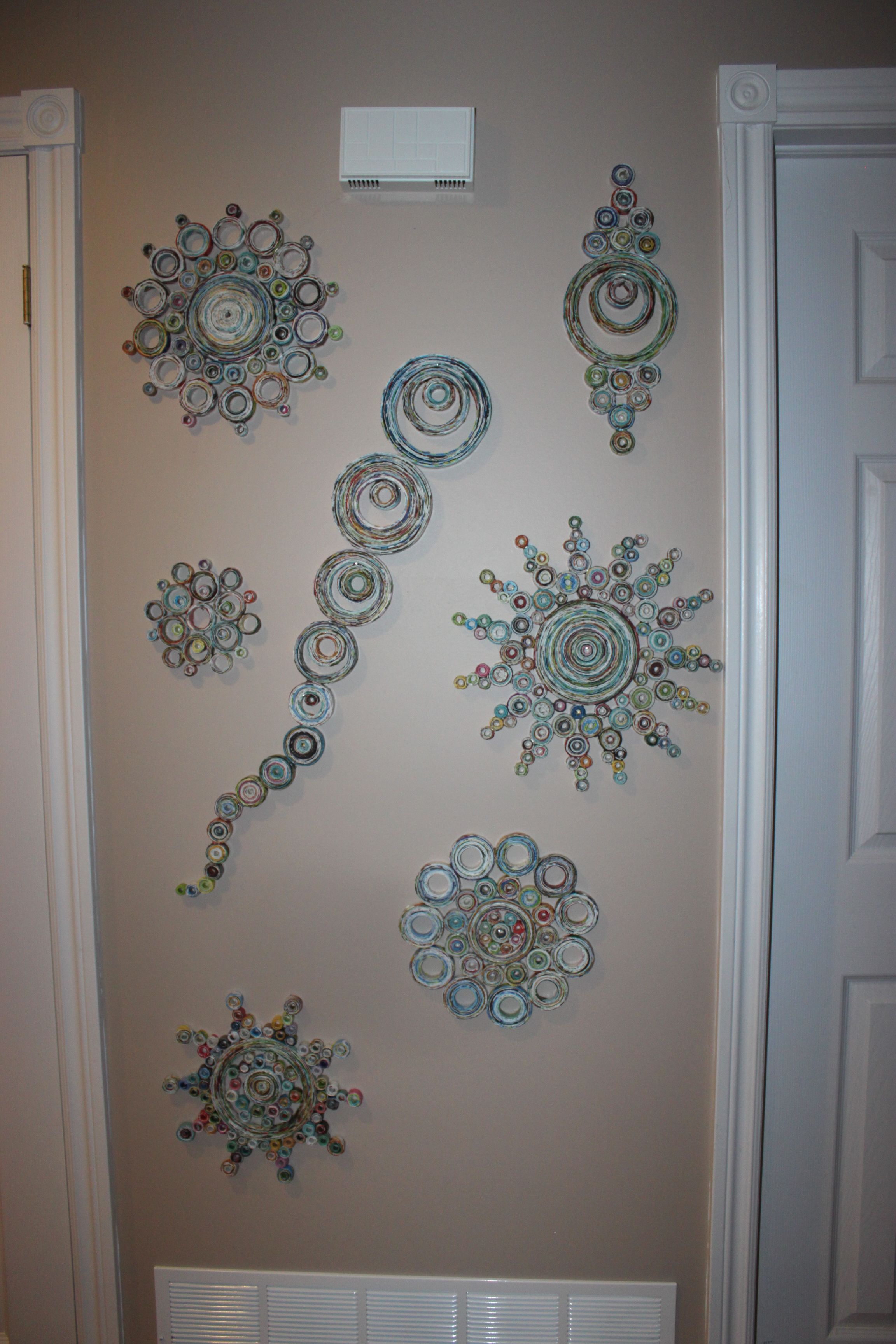 rolled paper art display in my hallway my creative stuff rolled paper art display in my hallway