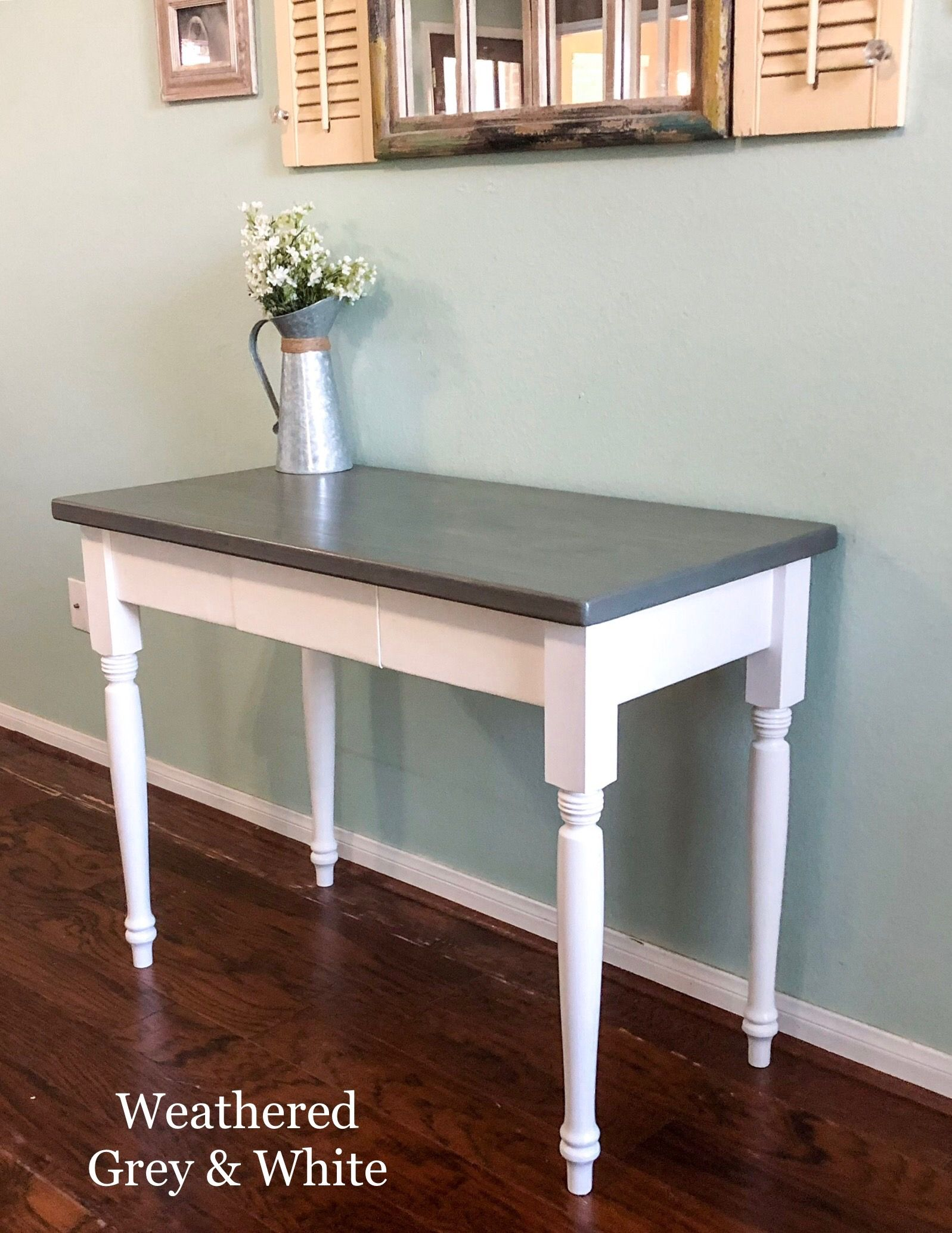 Farmhouse Desk with Drawer by Southern Wisteria Design on