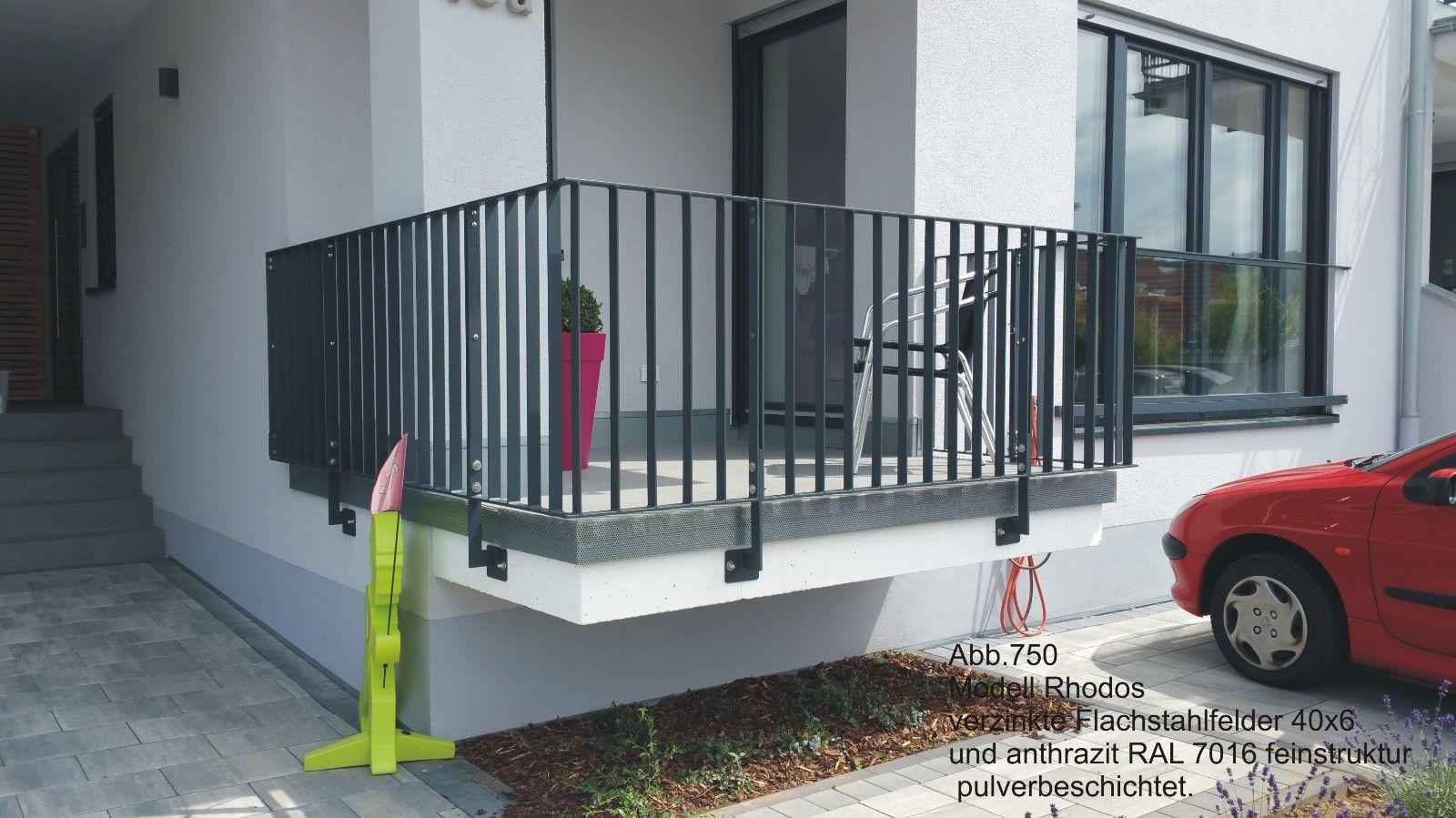 balkongel nder verzinkt flachstahl anthrazit doppelschwertpfosten eur 220 0 bemusterung. Black Bedroom Furniture Sets. Home Design Ideas