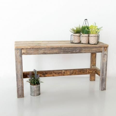 Reclaimed Wood Entry Table Reclaimed Wood Benches Wood Bench Outdoor Diy Wood Bench