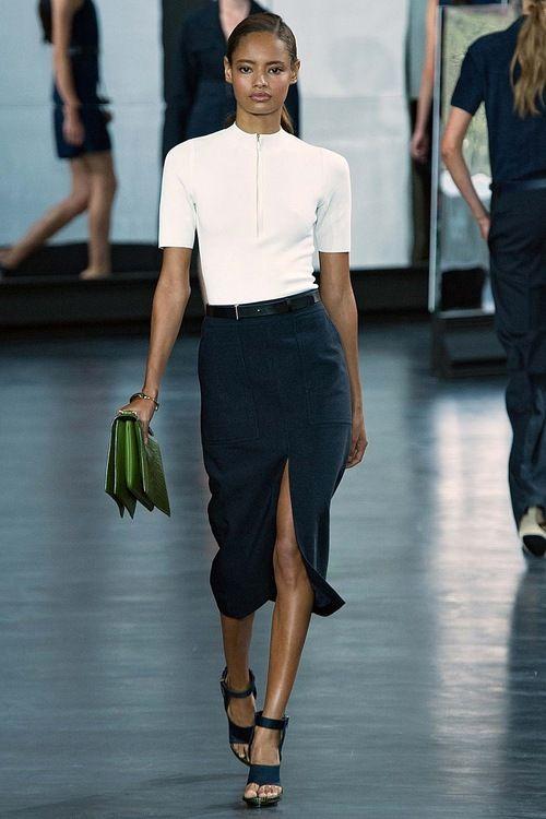 "leahcultice: ""Malaika Firth at Jason Wu Spring 2015 RTW """