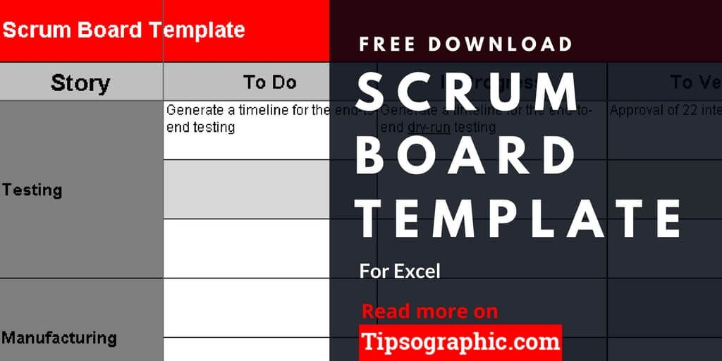 Scrum Board Template For Excel Free Download Scrum Board