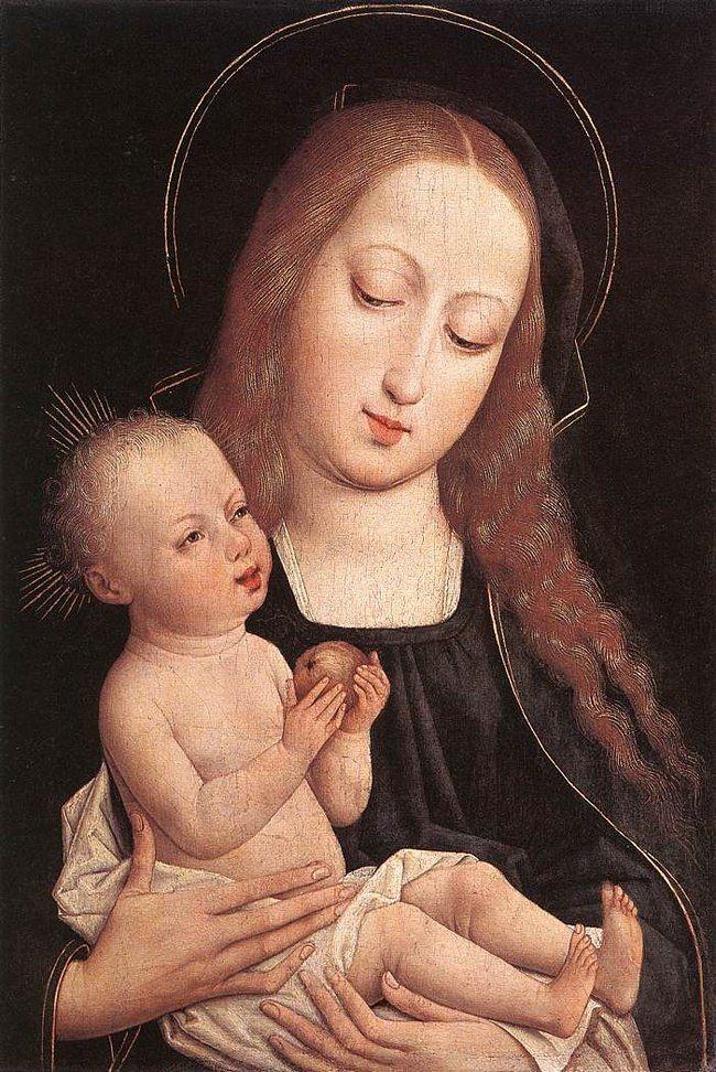 """Неизвестный фламандский художник """"Богоматерь с младенцем"""" 1500"""