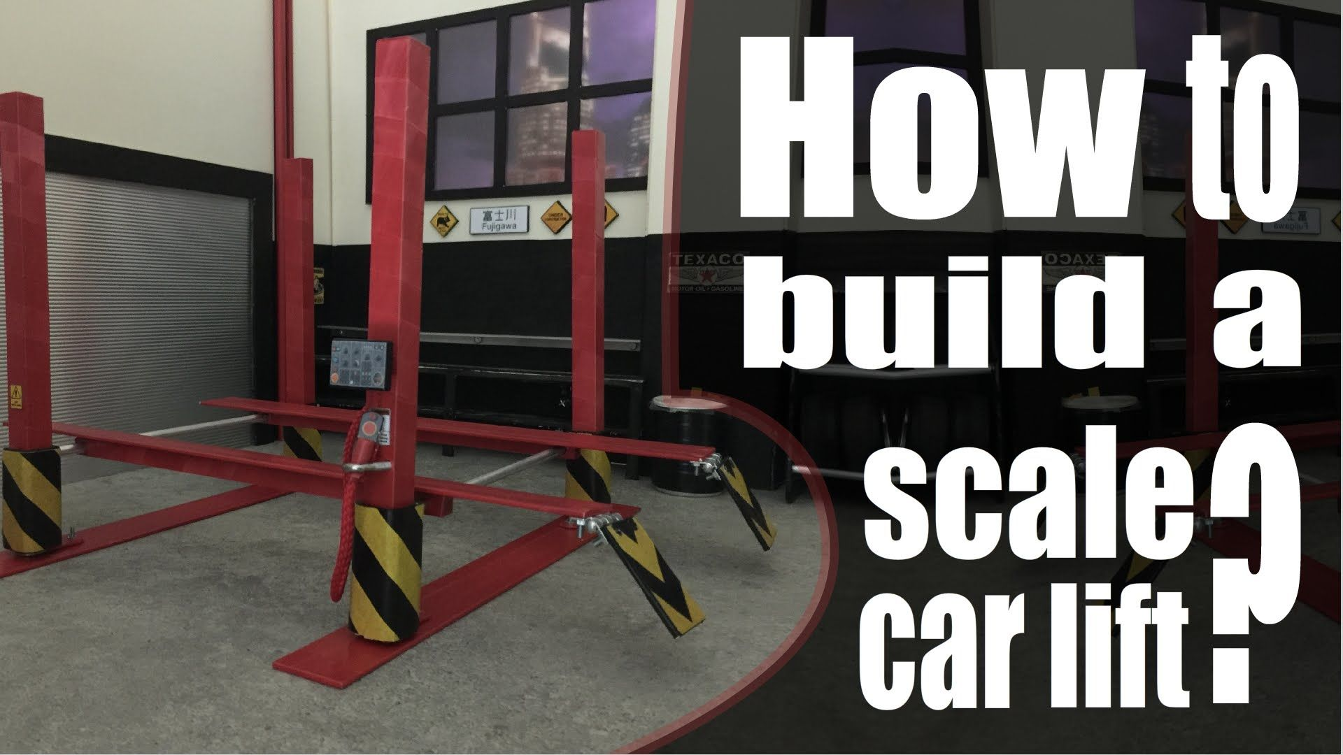 Driftalicious How To Build A 1 10 Scale Car Lift Scale Model