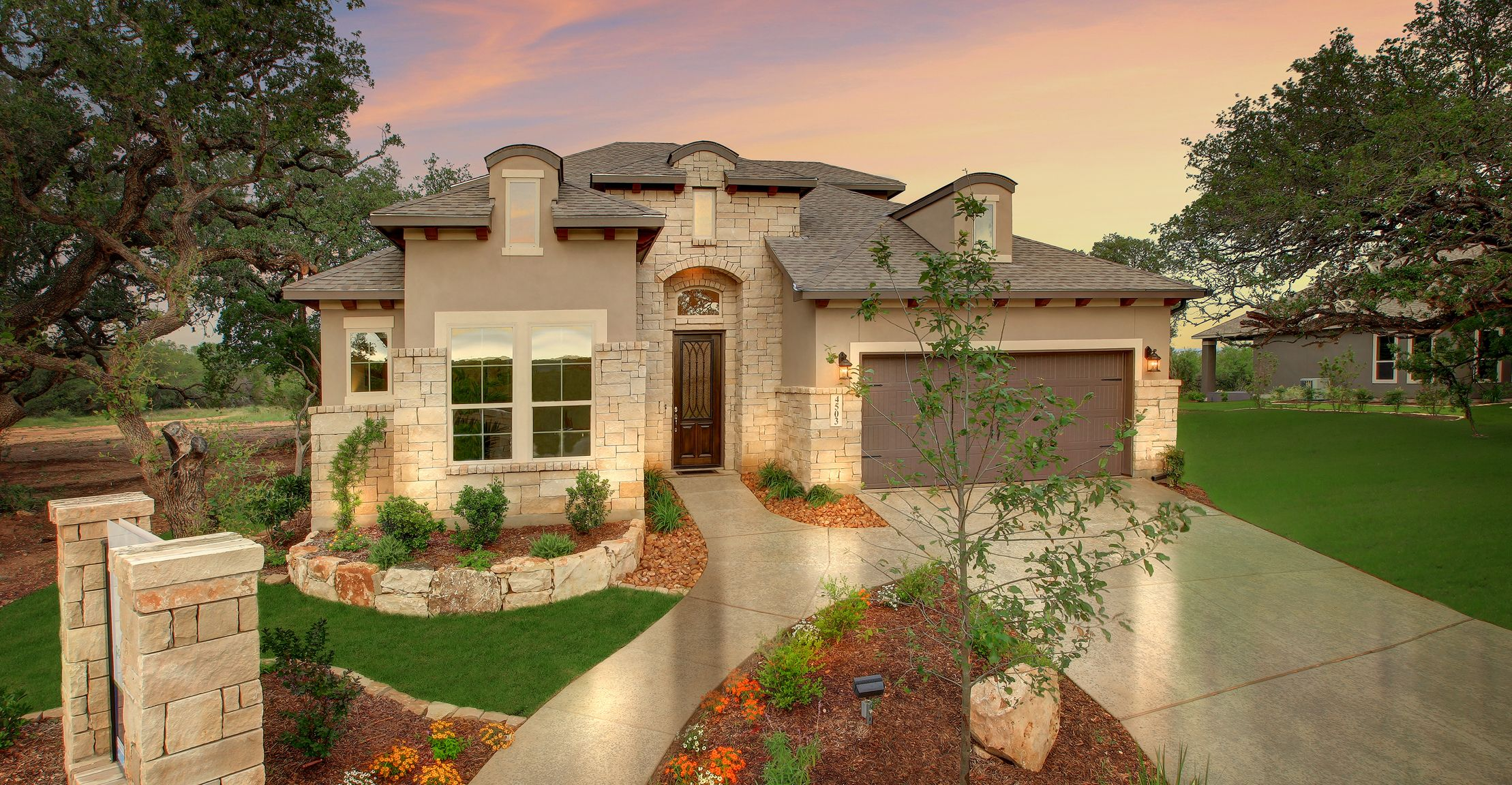 new imagine homes model home in amorosa in cibolo canyons 4503 amorosa way san - Garden Homes San Antonio