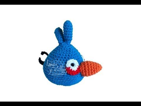 Tutorial Angry Birds Azul Amigurumi Blue (English subtitles ...