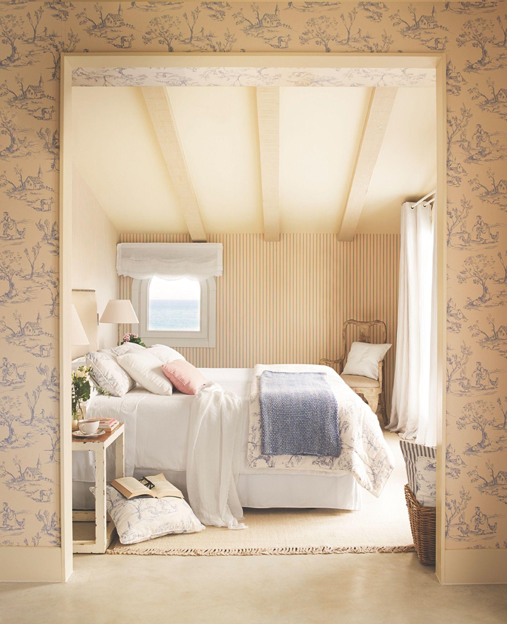Chic una cama con dosel dormitorios dormitorios - Papeles pintados dormitorios ...