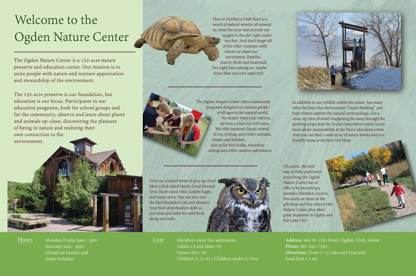 Image Result For Environmental Brochures Nature Center