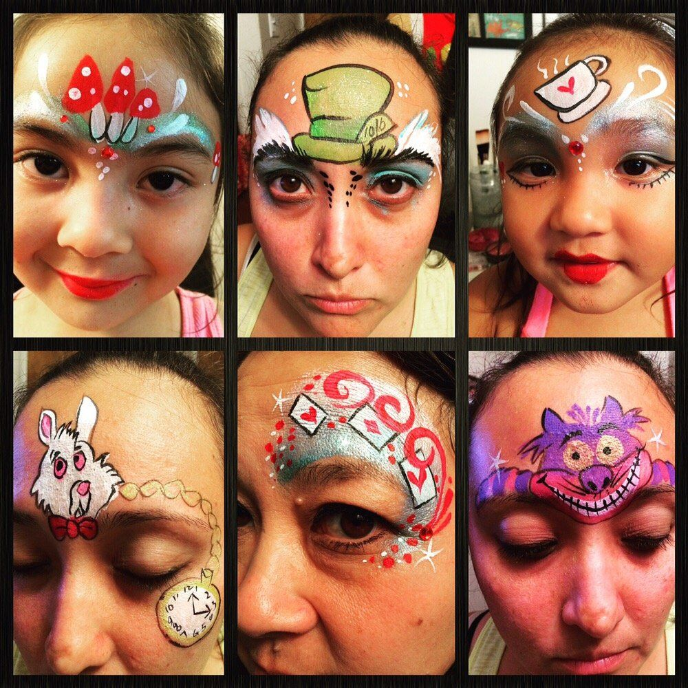 Twinkle Face Painting Photos Face Painting Alice In Wonderland Alice In Wonderland Makeup