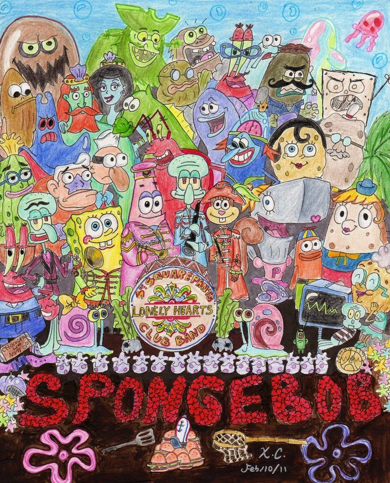 sponges revisitando sgt peppers pinterest