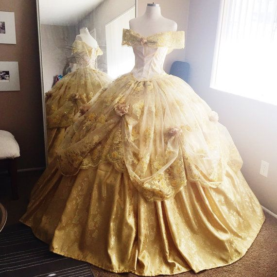 Disney Wedding Dresses 2019: Disney Inspired Deluxe Belle Ball Gown From By