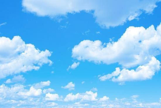'Blue Sky Background with a Tiny Clouds' Photographic Print - Vitaliy Pakhnyushchyy   AllPosters.com