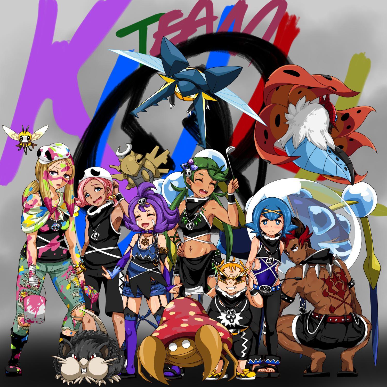 Team Skull Trial Captains | Pokemon | Pokemon sun, Pokemon