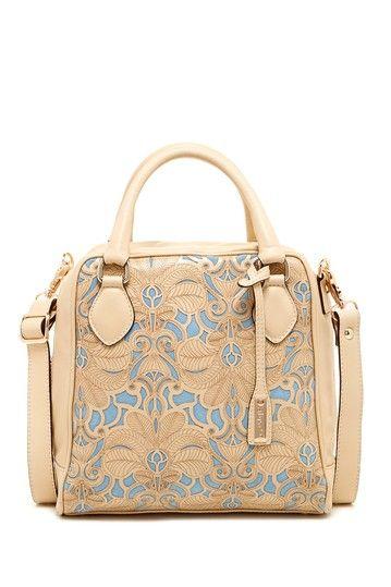 wow blue and tan bag <3