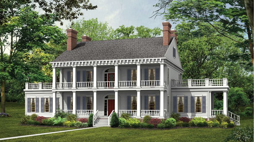 Plantation floor plans plantation style designs from for Plantation house plans