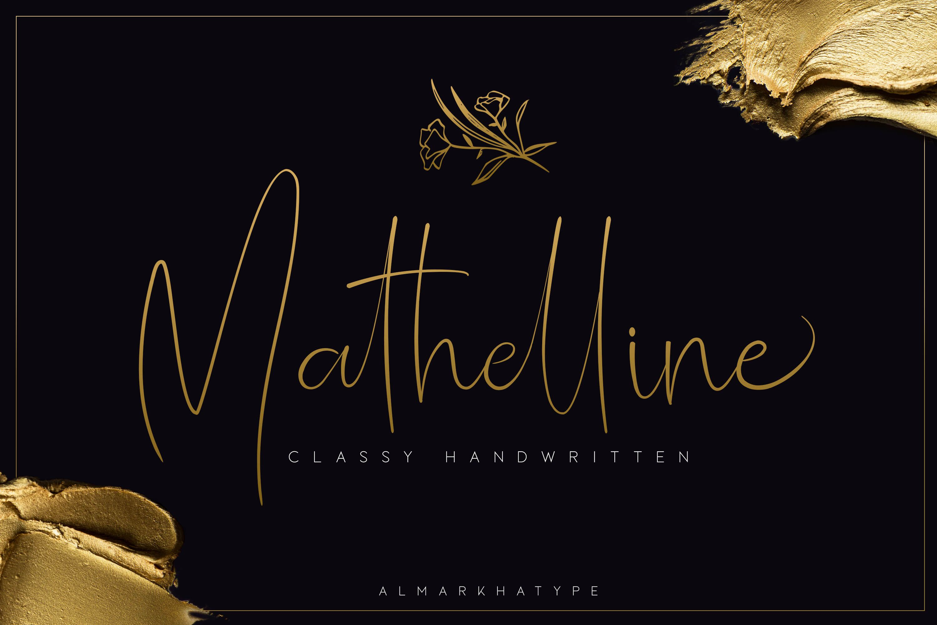 Mathelline (Font) by almarkhatype Signature fonts