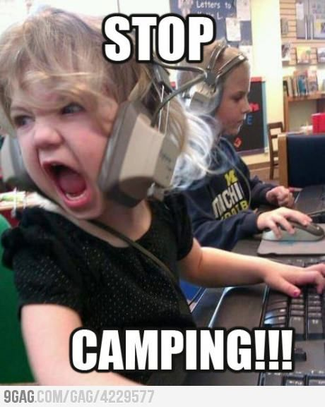 Angry gamer girl ...(LOL this reminds me of the times in WoW where people would yell at other people they thought were camping during BGs...bwaha! good times... --HD)