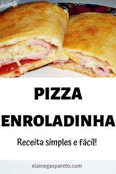 Pizza enrollada fácil económica y deliciosa