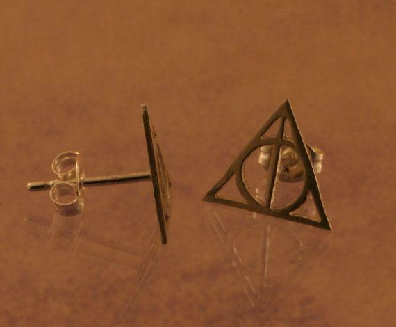 Aretes Harry potter las tres reliqueas yeeih!